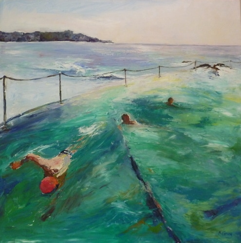 Early Swim Bronte Sydney painting