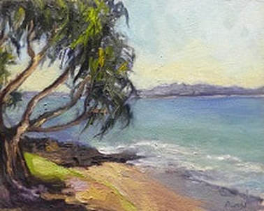 wategos beach byron bay - pandamus palm by by Barbara Gray
